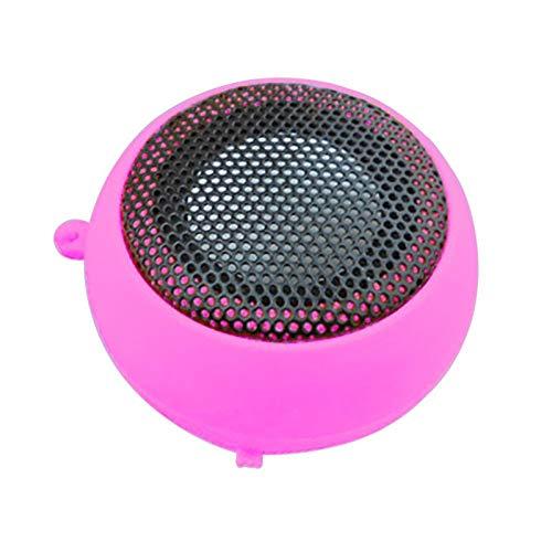 XNJTEQAQ Mini Portable Hamburger Speaker Amplifier for iPod Ipad Laptop for iPhone Tablet PC Pink