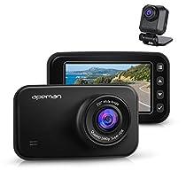 APEMAN Doppia Lente Dash Cam Telecamera per Auto 1440P 2K Cruscotto Anteriore Videoregistratore 1080P FHD Videocamera Posteriore G-Sensore Night Vision Registrazione in Loop Monitoraggio di Parcheggio
