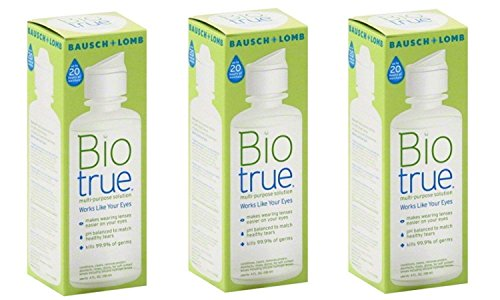 - Bausch and Lomb Bio True Multi-Purpose Solution 2 Oz Travel Size (Pack Of 3)