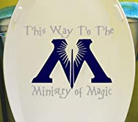Harry Potter Ministry of Magic Bathroom Toilet Wall Decal Ravenclaw [Grey & Blue] Hogwarts Dumbledore