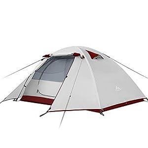 Forceatt Tente 2-4 Personnes Camping, 4 Saison Imperméable Anti UV, Tente Ultra Legere Facile Dôme Double Couchepour…