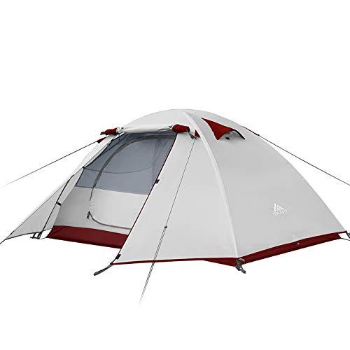 Forceatt Tente 2-4 Personnes Camping, 4 Saison Imperméable Anti UV, Tente Ultra Legere Facile Dôme Double Couchepour… 1