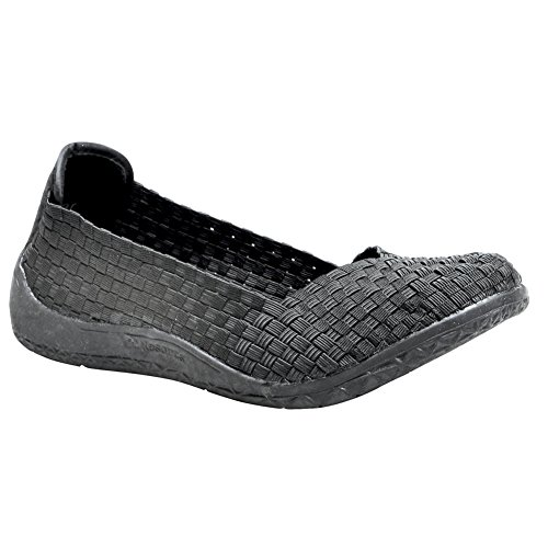 Bernie Mevs Womens Catwalk Slip-on Black