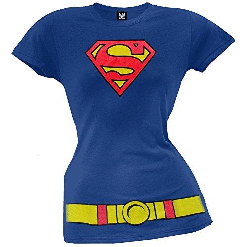 Supergirl - Costume Juniors T-Shirt - -