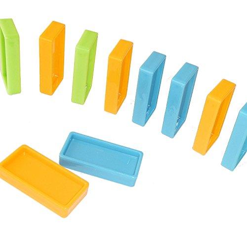 ドミノ  120pcs セット カラフル 3色 120個 44×21×8mm 知育 おもちゃ 在庫一掃特価 (ギミック・仕掛け 別売り)