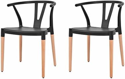 Outdoor Küche Vidaxl : Vidaxl esszimmerstühle 2 stk. schwarz kunststoffsitz stahlbeine