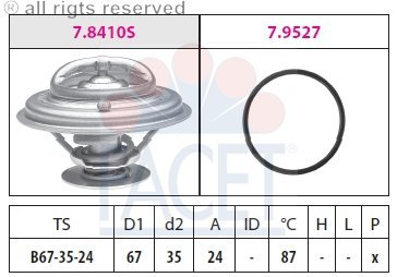 Facet - 7.8410 - Thermostats - Audi Cooling 90