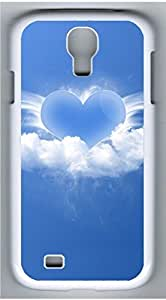 Samsung Galaxy S4 I9500 White Hard Case - Clouds In Love Galaxy S4 Cases