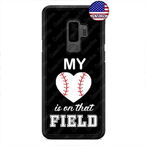 Case Lock LTD -New Baseball My Heart Cute TPU Case Cover for Samsung Galaxy S9 Plus