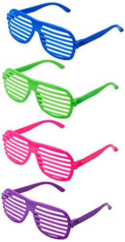 Fun Central AU110 Plastic Slotted Shades - Assorted 24ct
