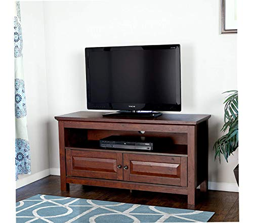 Deluxe Premium Collection 44 inches Cortez TV Stand Console Brown Decor Comfy Living Furniture