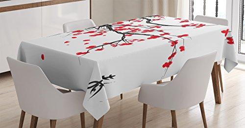 Tablecloth Ambesonne Japanese Summertime Rectangular