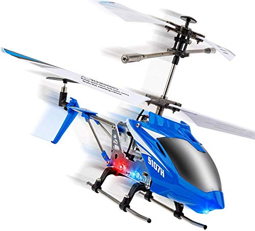 Syma Wind Hawk Remote Control Helicopter - Indoor RC Helicopter for Adults, Flying Toys for Kids w/ Altitude Hold (Blue) (King Helicopter Model)
