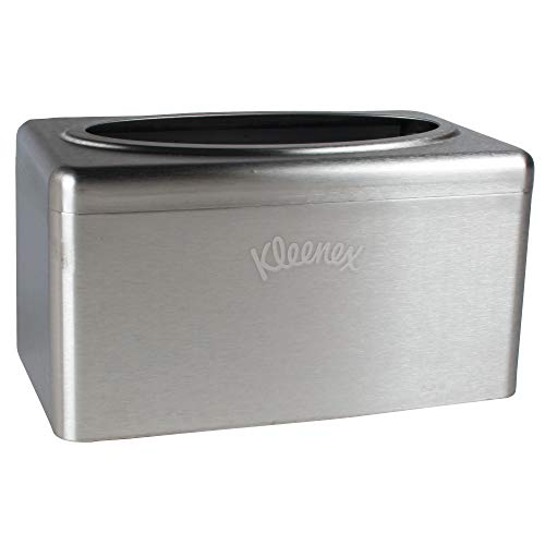 Kleenex Stainless Steel Countertop Box Towel Cover (09924), for Kleenex POP-UP Box Hand Towels, 2 per ()