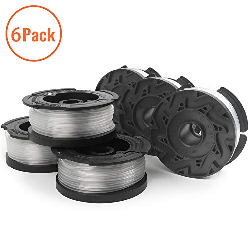 X Home 6-Pack Durable AF-100 Pre-Wound Weed Eater Spools, Compatible with Most Black and Decker String Trimmers, Easy to Install