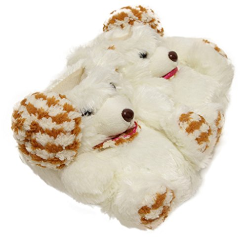 Amt-9968 Donne Bambini Adorabili Adorabili Faux Fur Cartoon Orso Morbido Antiscivolo Scarpe Da Interno Suola Bianca