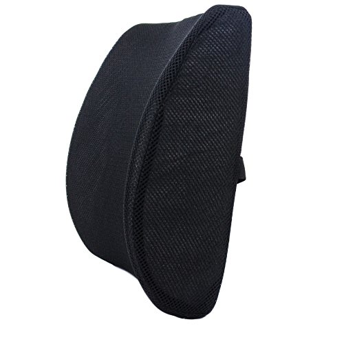 Milliard Lumbar Support Pillow; Memory Foam Chair Cushion Supports Lower Back for Easy Posture in the Car, Office, Plane and Your Favorite Chair ()