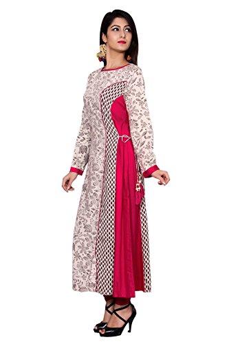 Metro Fashion A-Line Tunic Top Pink Rayon Womens Kurti Dress.