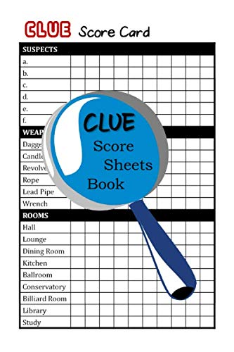 Clue Score Sheets Book: Murder Mystery Game ()