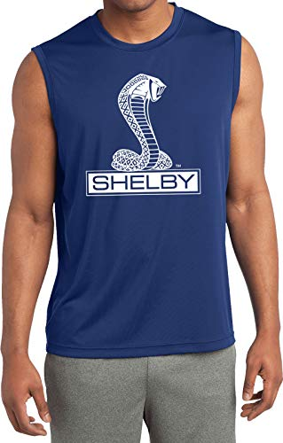 Ford Shelby Cobra Sleeveless Competitor Shirt, Royal XL