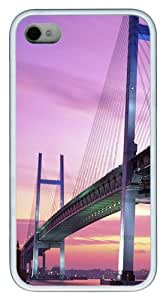 iPhone 4S/4 Case Cover - Yokohama Bay Bridge Japan Stylish Custom Design iPhone 4s/4 Case and Cover - TPU - White