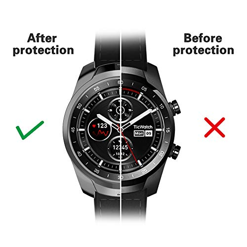 iHYQ TicWatch Pro Case, TPU Protective Anti-Scratch Soft Comfortable Cover Bumper for TicWatch Pro Smart Watch (Gray, ticwatch pro)