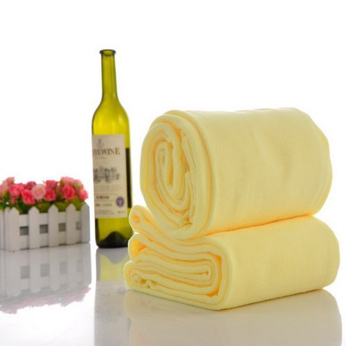 Housweety Yellow Microfiber Drying Absorbent