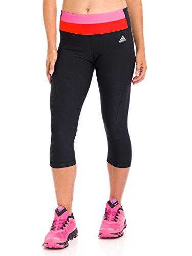 Adidas Women's Ultimate Twist Three-Quarter Tights, Black/Solar Pink/Solar Red, Large
