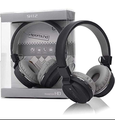 On Ear Wireless Bluetooth Headphone with FM/SD Card Slot with Music and Calling Control (Black)