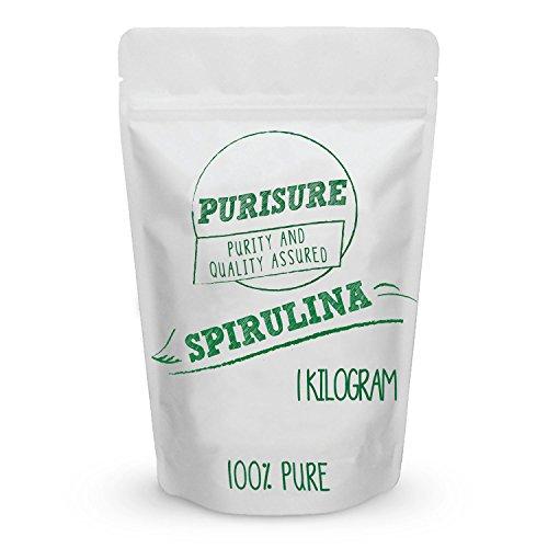Cheap Spirulina Powder 1 Kilogram (333 Servings) | Super Food | Vegan Protein Source | Vitamin, Minerals, and Carotenoids | Antioxidant | Anti Inflammatory | Helps Protect Heart and Liver