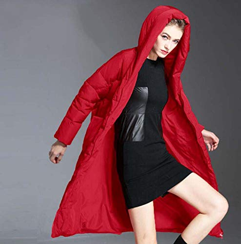 Long Manteau Le Red Parka Bas Le Canard vers Femmes Au en Bas Droit Bas Genou Veste vers Vrac Le Sortir Dessus Hooded du XxFwB08