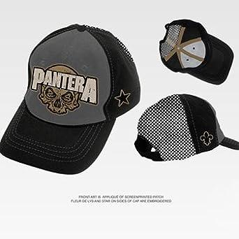 d4d04b291bacd Pantera - Skull Trucker Hat In Charcoal Black