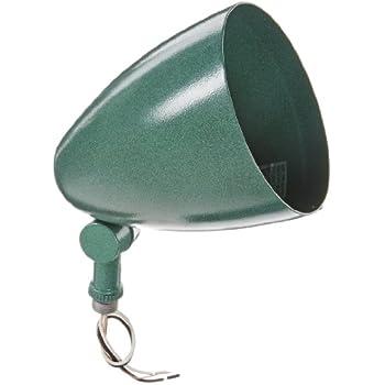 Verde Green 5-5//8 Diameter x 6-1//4 Height RAB Lighting HV1VG H System Visor Aluminum