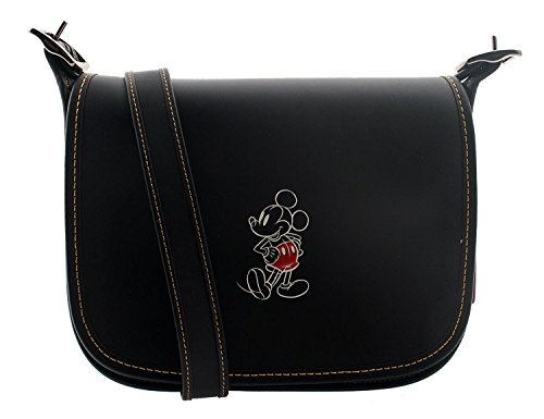 Glove Calf with Leather 23 Patricia Saddle MICKEY Black COACH in Mickey YxSp8Xwq