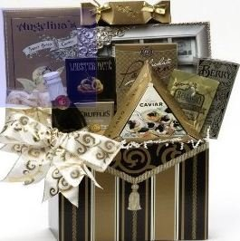 Art of Appreciation Gift Baskets To Have and To Hold Wedding or Anniversary Gift Box with Caviar (Chocolate)