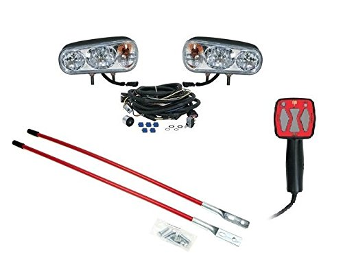 Snow Plow UPGRADE KIT Halogen Headlight Kit, Hand Held Controller, Blade Markers by The ROP Shop (Ez Upgrade Universal Kit)
