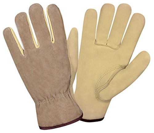 (Cordova Safety Products 8232XS Select Grain Cowhide Driver Gloves with a Golden Brown Split Cowhide Back, X-Small)