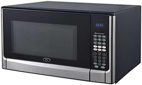 Oster OGYZ1604VS 1100W Inverter/Sensor Microwave Oven, 1.6 cu. ft., Stainless Steel/Black