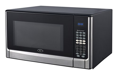 Oster OGYZ1604VS 1100W Inverter/Sensor Microwave Oven, 1.6 cu. ft, Stainless Steel/Black
