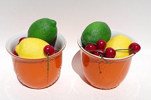Marigold Coins (Pair Marigold Orange Coin Jar Bathroom Dish Dorm)