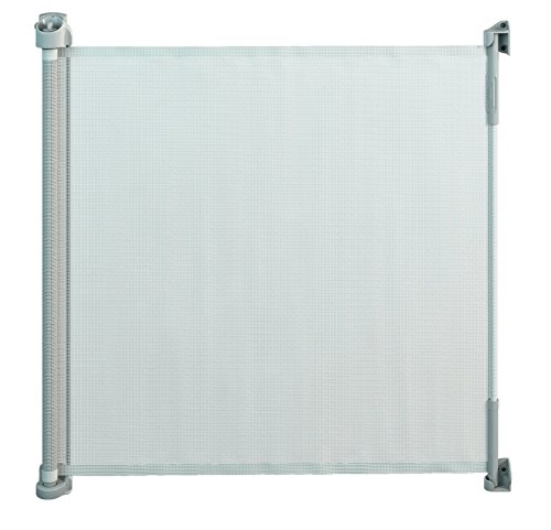 Gaterol Active Lite White - Retractable Safety Gate - Super Safe 36.6' Tall and Opens up to 55'