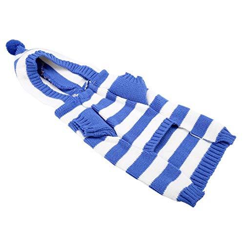 Warme huisdierentrui, hondensweater Gestreepte ademende(MYD70 blue, XXL)