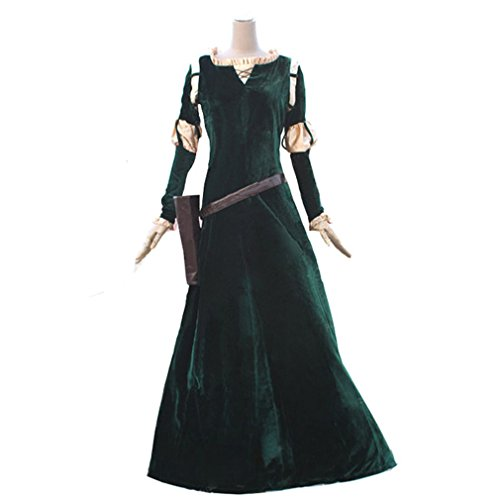 Cuterole Princess Merida Adult Costume Brave Merida Cosplay Party Dress Custom (Brave Adult Costume)