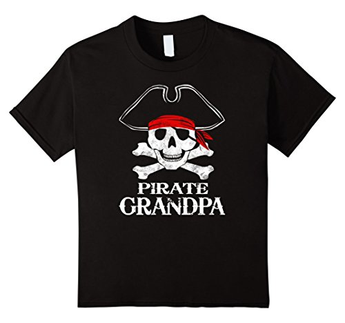 Four Halloween Costumes Family (Kids Pirate Grandpa Family Halloween Costume Shirt Group Costume 4)