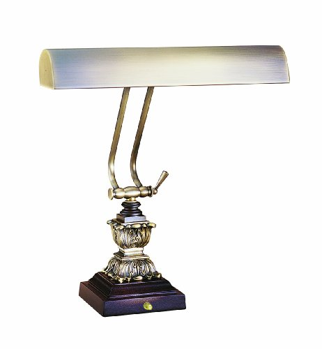 House of Troy P14-232-C71 14-3/4-Inch Portable Desk/Piano Lamp, Antique Brass and Chestnut - Desk Lamp Piano 14'