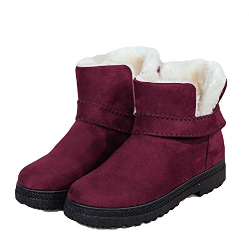 Kyle Walsh Pa Women Warm Snow Boots Soft Comfortable Fur Ankle Booties Female Winter Flat Boots