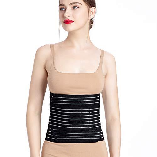 SUISONG Postpartum Belt, Postpartum Postnatal Recovery Maternity Support Belt for Women, Pregnancy Belly Band Waist Trimmer Belt Slimming Body Shaper Belt (M, Black)