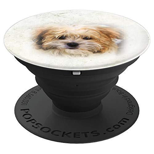 Yorkie Yorkshire Terrier Dog Puppy Love Abstract Art Sketch - PopSockets Grip and Stand for Phones and Tablets