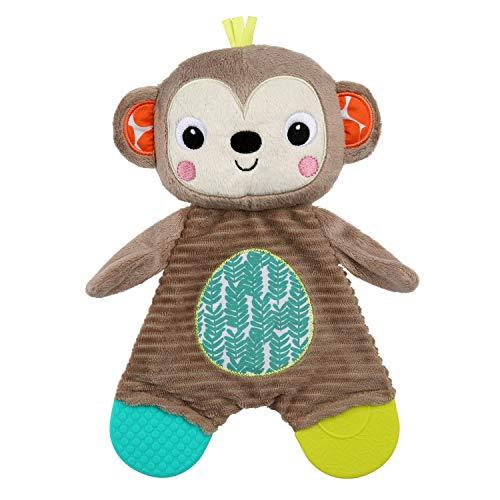 Bright Starts Snuggle & Teethe Plush Teether - Monkey, Ages Newborn +