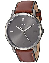 Fossil FS5479 Reloj para Hombre, Correa Piel Café, Caratula Gris, Análogo